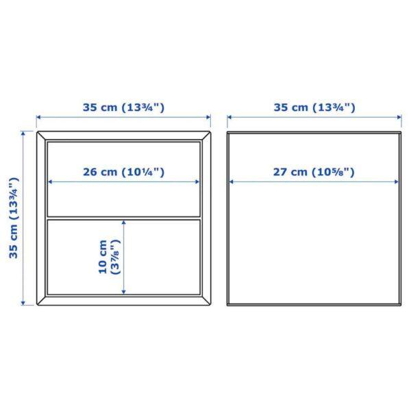 ЭКЕТ Комбинация д/хранения, под беленый дуб, белый, 105x35x70 см - 393.363.94