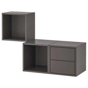 ЭКЕТ Комбинация д/хранения, темно-серый, 105x35x70 см - 493.363.79