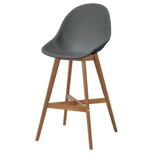 ФАНБЮН Барный стул для дома/сада, серый, 64 см - 393.169.75