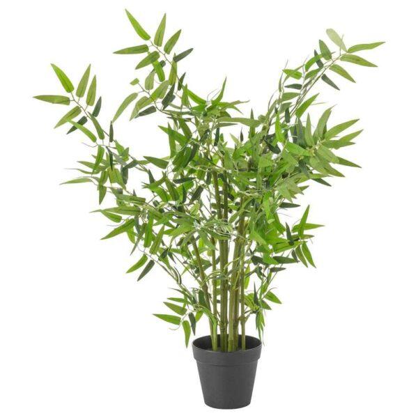 ФЕЙКА Искусственное растение в горшке, д/дома/улицы бамбук, 12 см - 304.704.57