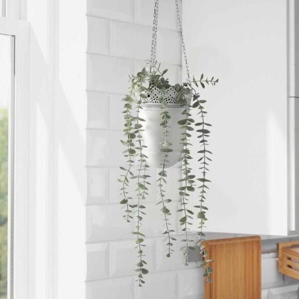 ФЕЙКА Искусственное растение в горшке, д/дома/улицы подвесной, эвкалипт, 9 см - 504.668.12