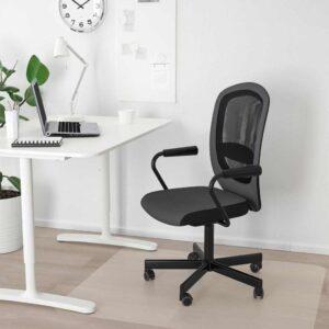 ФЛИНТАН / НОМИНЕЛЬ Рабочий стул с подлокотниками, серый - 091.944.28