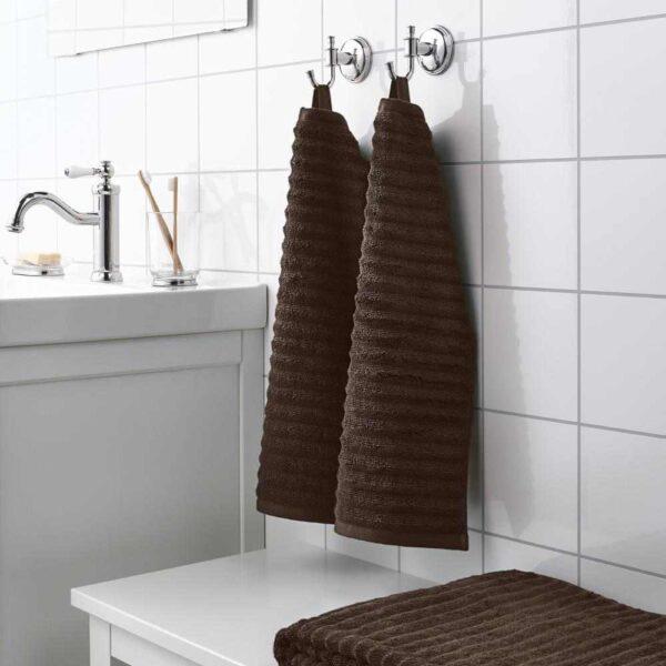 ФЛОДАРЕН Полотенце, темно-коричневый, 30x50 см - 204.691.38