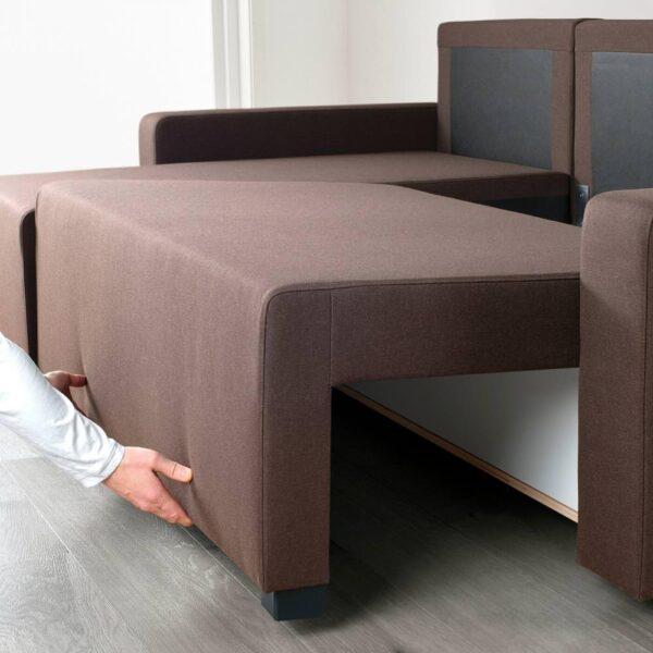 ГИММАРП Диван-кровать с козеткой, Рудорна коричневый - 504.489.03