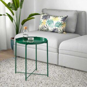 ГЛАДОМ Стол сервировочный, зеленый, 45x53 см - 804.621.34