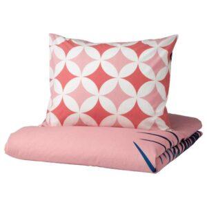 ГРАСИОС Пододеяльник и 1 наволочка, под плитку, розовый, 150x200/50x70 см - 004.624.54