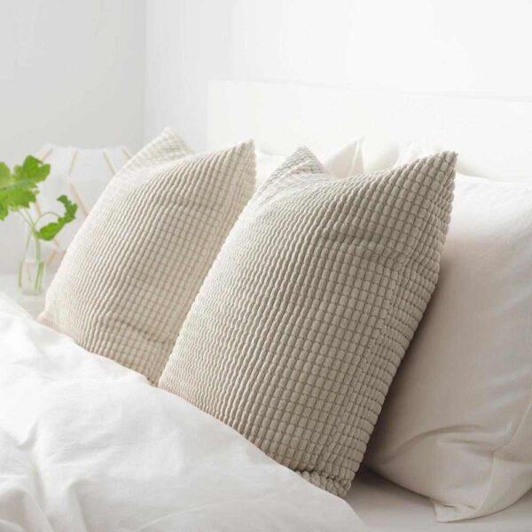 ГУЛЛЬКЛОКА Чехол на подушку, бежевый, 50x50 см - 804.649.58