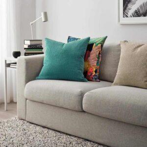 ГУЛЛЬКЛОКА Чехол на подушку, бирюзовый, 50x50 см - 804.649.39