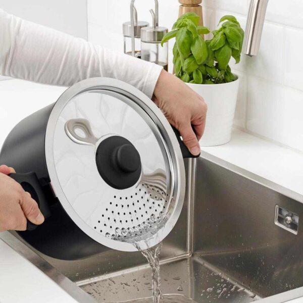 ХЕМЛАГАД Набор кухонной посуды, 6 предм., черный - 204.628.63