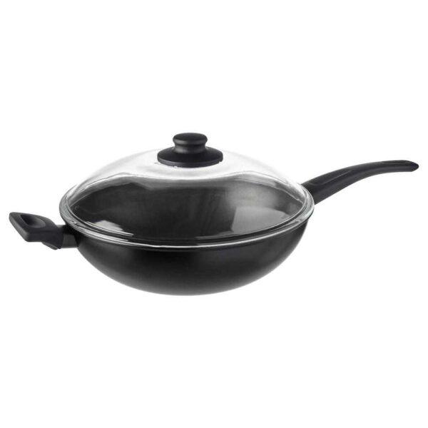 ХЕМЛАГАД Вок-сковорода c крышкой, черный, 28 см - 204.625.18