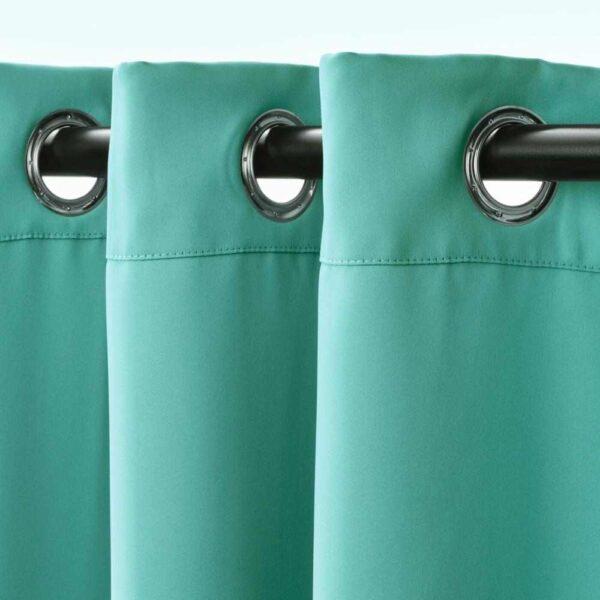 ХИЛЛЕБОРГ Затемняющие гардины, 1 пара, бирюзовый, 145x300 см - 604.636.72