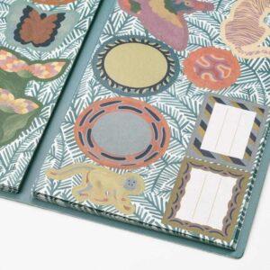 ИЛЛБАТТИНГ Папка с наклейками, разноцветный, мир животных - 404.576.86
