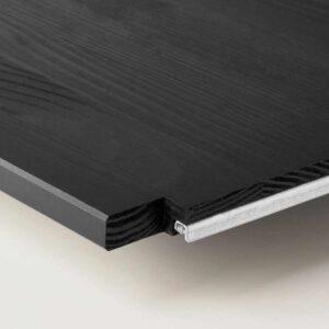 ИВАР Полка, черный, 83x30 см - 904.829.28