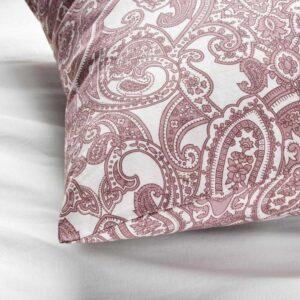 ЙЭТТЕВАЛЛМО Наволочка, белый, темно-розовый, 50x70 см - 204.610.76
