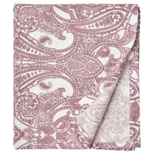 ЙЭТТЕВАЛЛМО Простыня, белый, темно-розовый, 150x260 см - 404.610.99