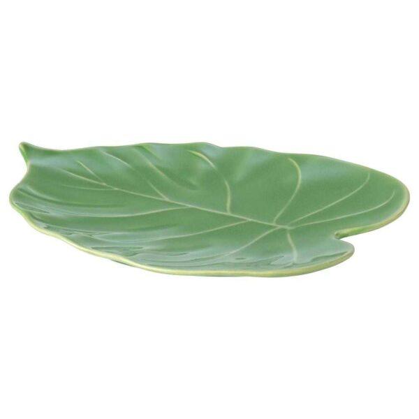 КАЛАСФИНТ Блюдо, Монстера зеленый, 26x20 см - 704.529.27