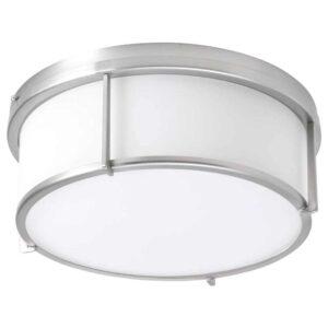 КАТТАРП Потолочный светильник, стекло никелированный - 104.634.34
