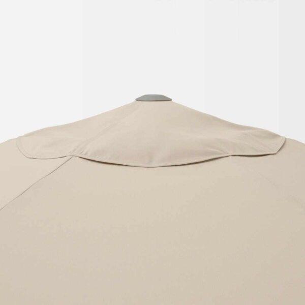 КУГГЁ / ВОРХОЛЬМЕН Зонт от солнца, серый, бежевый, 300 см - 593.247.19