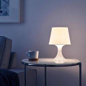 ЛАМПАН Лампа настольная, белый, 29 см - 404.729.17