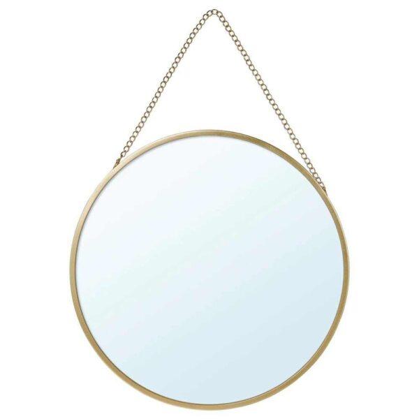 ЛАССБЮН Зеркало, золотой, 25 см - 504.710.31