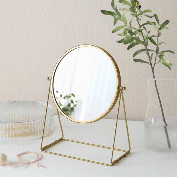 ЛАССБЮН Зеркало настольное, золотой, 17 см - 904.710.34