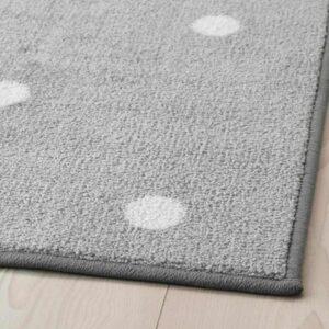 ЛЕН Ковер, точечный, серый, 133x160 см - 504.539.23