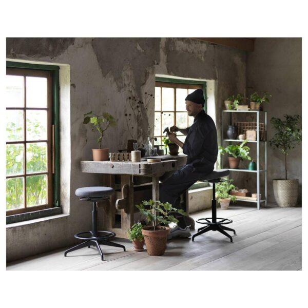ЛИДКУЛЛЕН Табурет-опора для работы сидя/стоя, Гуннаред темно-серый - 304.457.88
