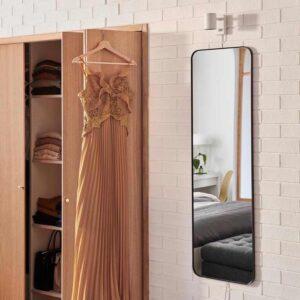 ЛИНДБЮН Зеркало, черный, 40x130 см - 104.586.25