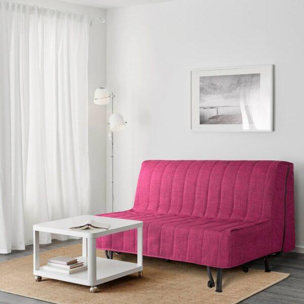 ЛИКСЕЛЕ 2-местный диван-кровать, Шифтебу малиновый - 193.877.99