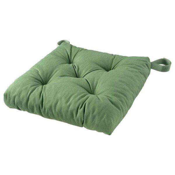 МАЛИНДА Подушка на стул, зеленый, 40/35x38x7 см - 604.813.22
