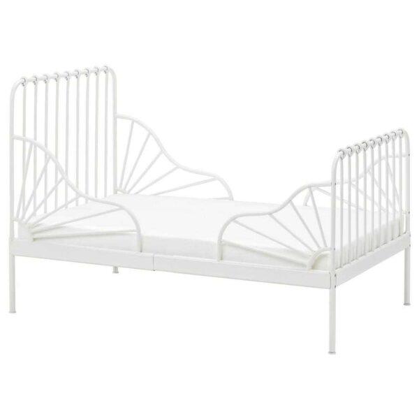 МИННЕН Раздвижная кровать с реечным дном, белый, 80x200 см - 793.376.69