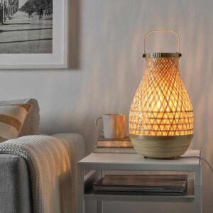 МИСТЕРГУЛЬТ Лампа настольная, бамбук, 36 см - 604.376.35