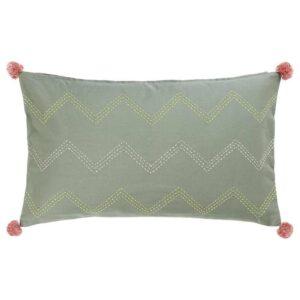 МОАКАЙСА Чехол на подушку, ручная работа зеленый, розовый, 40x65 см - 104.676.77