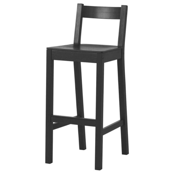 НОРДВИКЕН Стул барный, черный, 75 см - 703.695.32