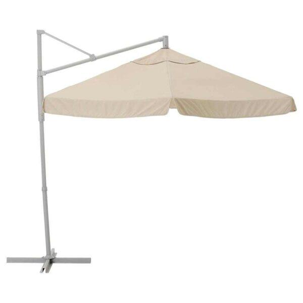 ОКСНЭ / ВОРХОЛЬМЕН Зонт от солнца, подвесной, серый, бежевый, 300 см - 293.257.39