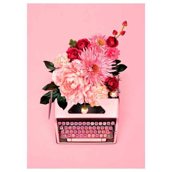 ПЬЕТТЕРИД Картина, Розовая пишущая машинка, 50x70 см - 304.738.61