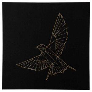 ПЬЕТТЕРИД Картина, Золотая птица, 56x56 см - 304.716.83