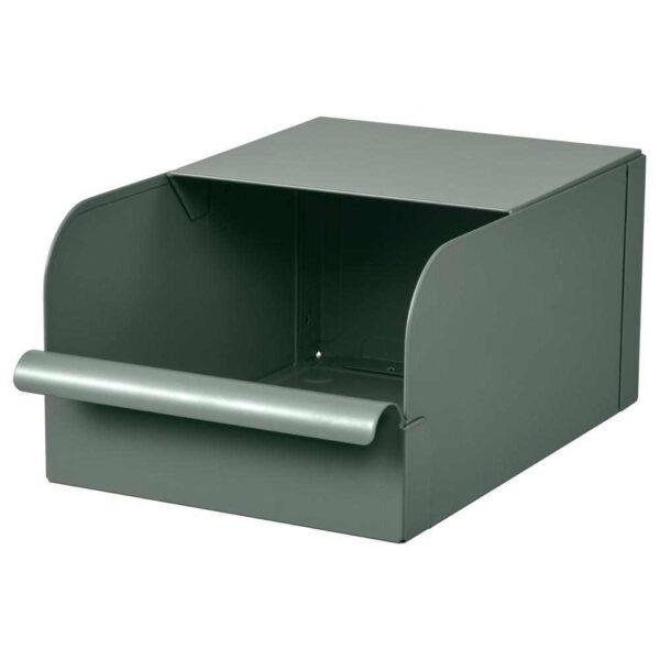 РЕЙСА Контейнер, серо-зеленый, металлический, 17.5x25.0x12.5 см - 804.577.93