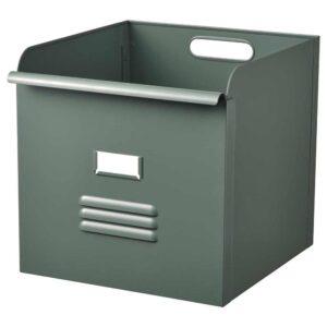 РЕЙСА Контейнер, серо-зеленый, металлический, 32x35x32 см - 904.577.97
