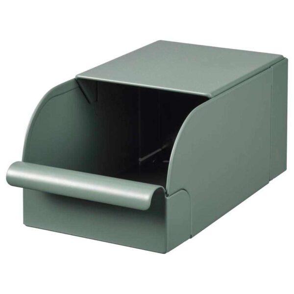 РЕЙСА Контейнер, серо-зеленый, металлический, 9x17x7.5 см - 904.578.01