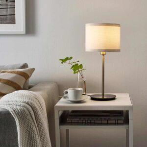 РИНГСТА / СКАФТЕТ Лампа настольная, белый, никелированный, 41 см - 893.865.60
