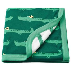 РЁРАНДЕ Одеяло детское, крокодил, зеленый, 80x100 см - 504.625.74
