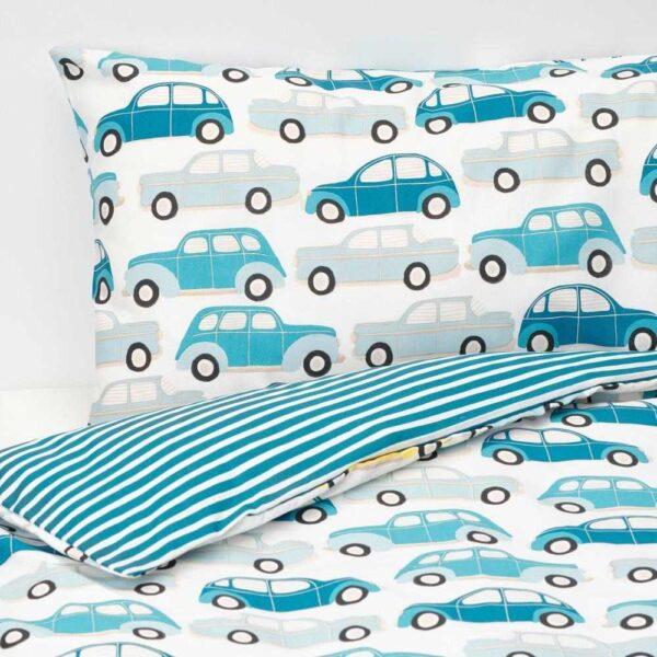 РЁРАНДЕ Пододеяльник, наволочка д/кроватки, машины, синий, 110x125/35x55 см - 104.625.66