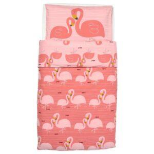 РЁРАНДЕ Пододеяльник, наволочка д/кроватки, фламинго, розовый, 110x125/35x55 см - 604.625.35