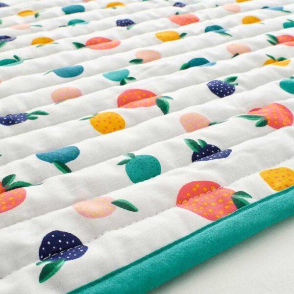 РЁРАНДЕ Одеяло/плед, орнамент «фрукты/точки», синий, 96x96 см - 504.625.69