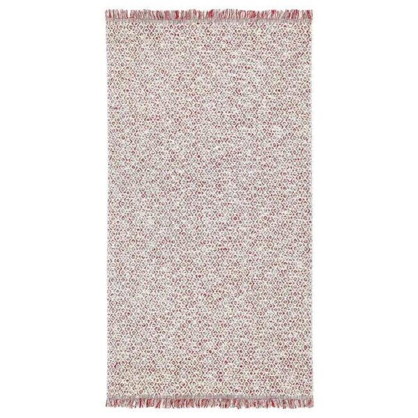 РЁРКЭР Ковер безворсовый, красный, естественный, 80x150 см - 804.747.35