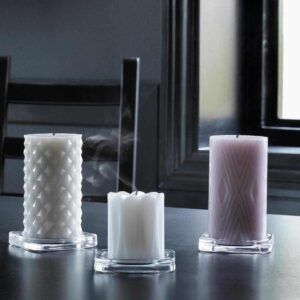САМТИККА Неароматич свеча формовая, светло-серый, 14 см - 104.881.80