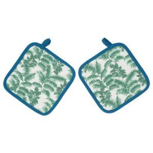 СИЛВЕРПОППЕЛ Прихватка, с рисунком, зеленый синий, 23x23 см - 204.541.27