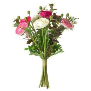 СМИККА Искусственный букет, лютик розовый/белый, 33 см - 804.529.84
