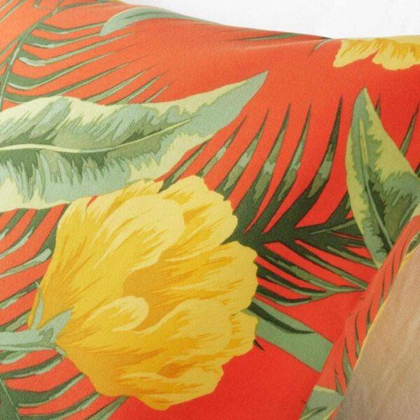 СОЛБЛЕКТ Чехол на подушку, д/дома/улицы, цветочный орнамент оранжевый, 65x65 см - 404.608.82